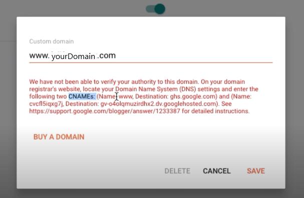 Add custom domain in new blogger interface