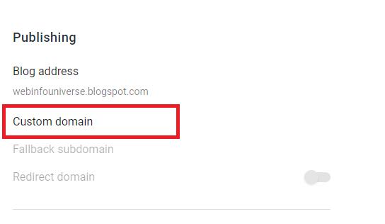 Set-up Custom domain