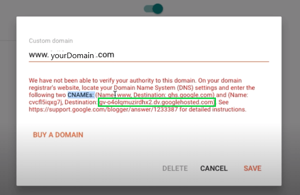 Custom Domain Set-up in new blogger interface